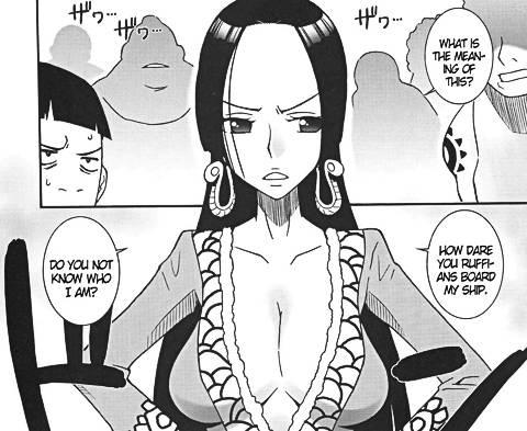 Boa Hancock big tits cleavage hentai manga