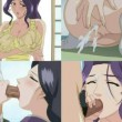 Milf mother and sister blowjob and creampie leaking from asshole incest hentai