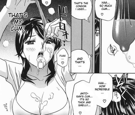 Eating Cum Used Condom Hentai