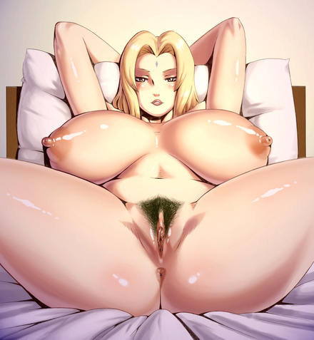 Sexy Tsunade hentai, naked boobs and pussy