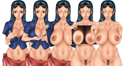 Sexy Nico Robin hentai showing boobs and pussy xxx flash animation