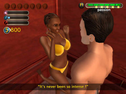 7 Sins Game Simulator, passion with black woman