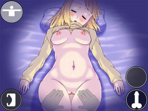 Ane Boku hentai game, thigh fuck sleeping cousin