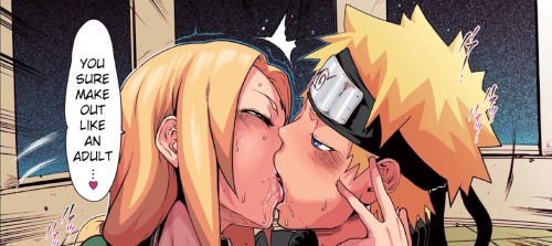 Naruto Kissing Tsunage French Kiss Hentai
