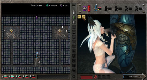 Pretty Warrior May Cry Hentai Game monster blowjob