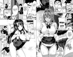 Schoolgirls swimsuit and sheer panties