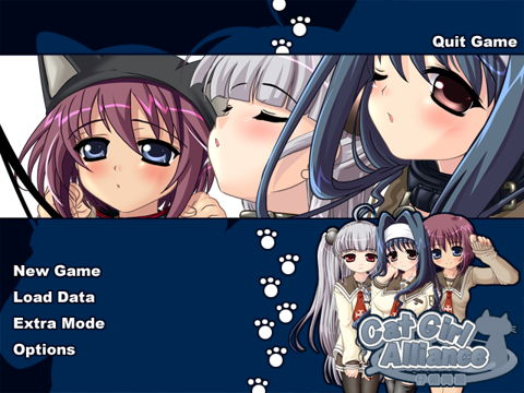 Cat Girl Alliance game menu