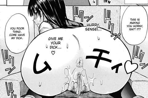 Horny Schoolgirl Naked Butt Hentai Manga